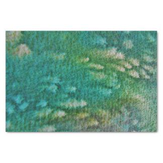 青緑の水彩画 薄葉紙