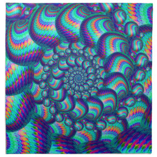 青緑の球のフラクタルパターン ナプキンクロス
