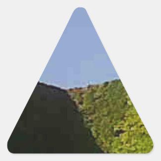 青緑の立方体 三角形シール