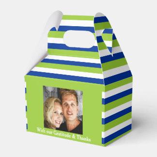 青緑の結婚式の写真2a フェイバーボックス