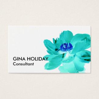 青緑の花の名刺 名刺