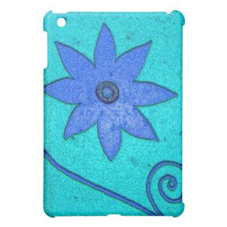 青緑の花 iPad MINIカバー