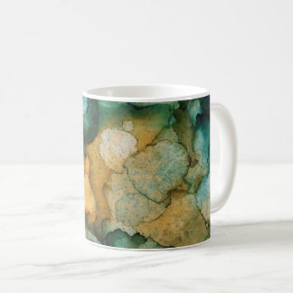 青緑カラフルなティール(緑がかった色)および蜜柑のオレンジ コーヒーマグカップ