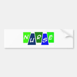 青緑ナース- バンパーステッカー