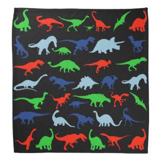 青緑恐竜パターンおよび黒の赤 バンダナ