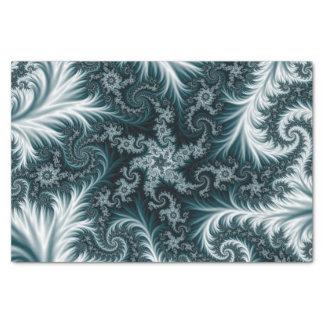 青緑色および白いフラクタルパターン 薄葉紙