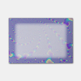 青緑色および紫色の螺線形になるライトフラクタルの芸術 ポストイット