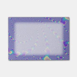 青緑色および紫色の螺線形になるライトフラクタルの芸術 ポスト・イット®ノート