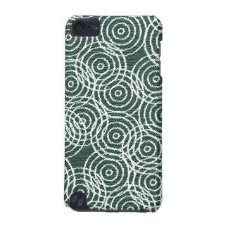 青緑色の木製のイカットの重複は幾何学的なパターンを一周します iPod TOUCH 5G ケース