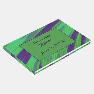 青緑色の棒の抽象芸術 ゲストブック