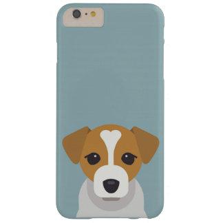 青緑色の背景のかわいい犬 BARELY THERE iPhone 6 PLUS ケース