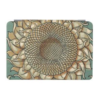 青緑色の背景のヒマワリの開花 iPad MINIカバー