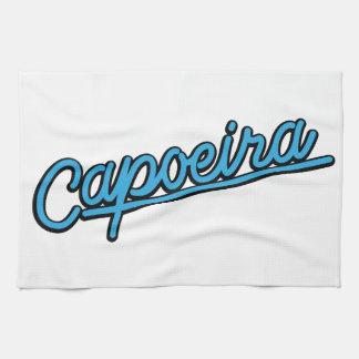 青緑色のCapoeira キッチンタオル