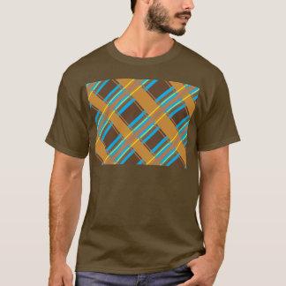 青緑色チョコレート格子縞の暗闇のワイシャツ Tシャツ