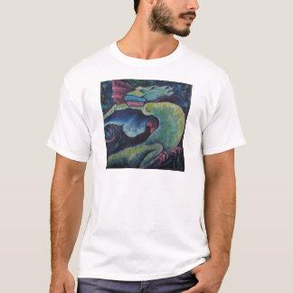 青緑色ドラゴン Tシャツ