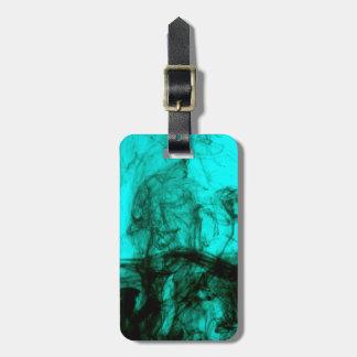 青緑色及び黒い液体インク荷物のラベル ラゲッジタグ