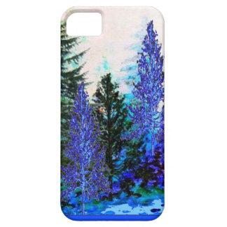青緑色山の森林景色 iPhone SE/5/5s ケース