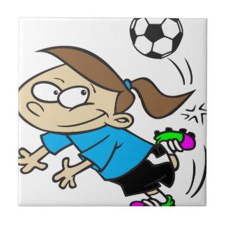 青緑色SOCCERGIRLの漫画 タイル