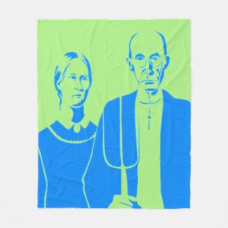 青緑podalmighty.netアメリカのフリースBLANKER フリースブランケット