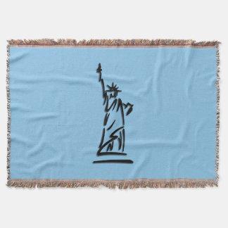 青自由の女神 スローブランケット