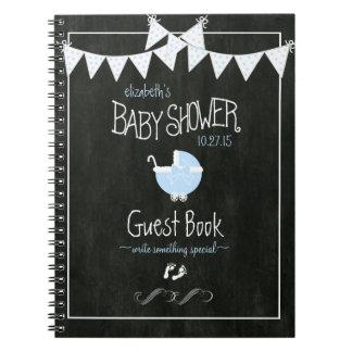 青色児のシャワーのゲストブックをバントする黒板の一見 ノートブック