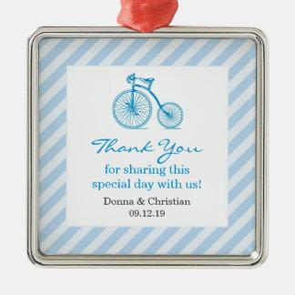 青色児のシャワーの好意のオーナメントありがとう メタルオーナメント