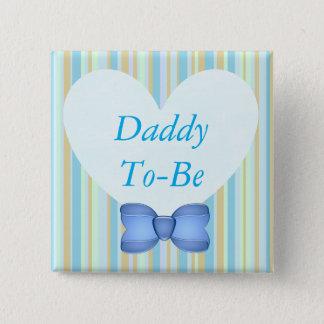 青色児のシャワーボタンがあるお父さん 5.1CM 正方形バッジ