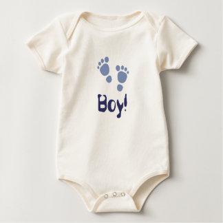 青色児の足跡それは男の子です! ベビーのクリーパー ベビーボディスーツ