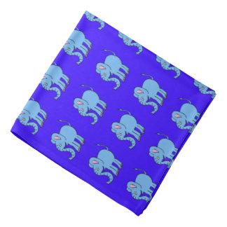 青色児象のバンダナ バンダナ