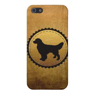 青銅のゴールデン・リトリーバー犬の円形浮彫り iPhone 5 カバー