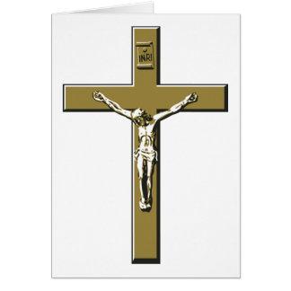 青銅の十字架像 カード