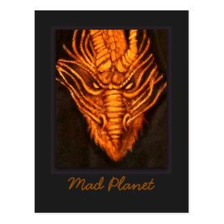 青銅色のドラゴンの頭部 ポストカード