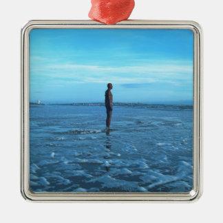 青銅色のビーチの彫刻 メタルオーナメント