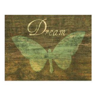 青銅色の夢の蝶郵便はがき ポストカード