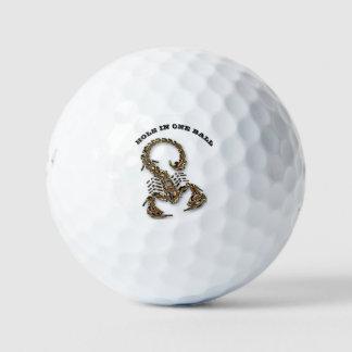 青銅色の有害な蠍の非常に有毒の昆虫 ゴルフボール