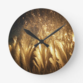 青銅色の氷 ラウンド壁時計