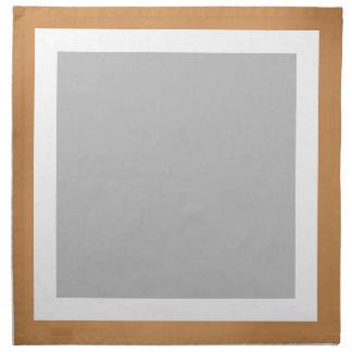 青銅色の白く、銀製のナプキン ナプキンクロス