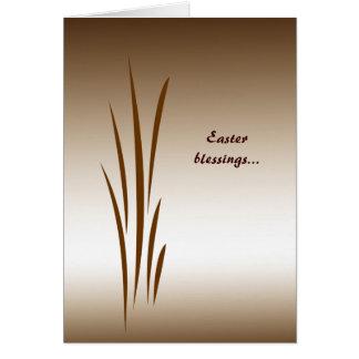 青銅色の草イースター カード