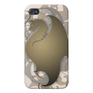 青銅色の都市ファンタジーのドラゴン4g I iPhone 4/4S カバー