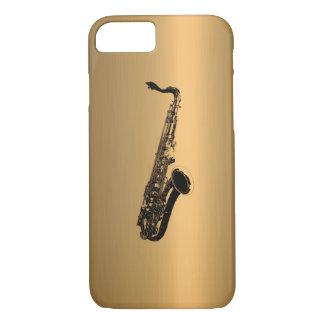 青銅色の銅の効果のサクソフォーン iPhone 8/7ケース