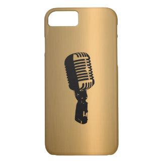 青銅色の銅の効果のマイクロフォン iPhone 8/7ケース
