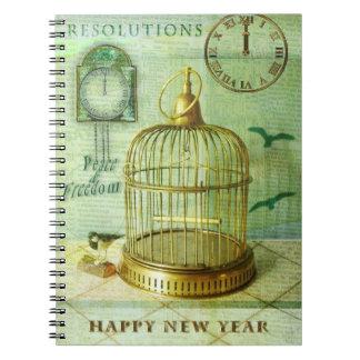 青銅色の鳥かご ノートブック