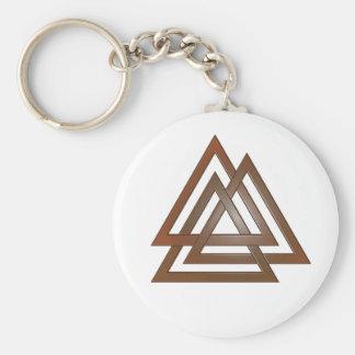 青銅色のValknut Keychain キーホルダー