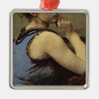 青1874年の女性 メタルオーナメント