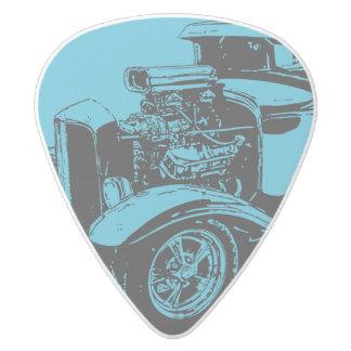 青1931 5つの窓のクーペ ホワイトデルリン ギターピック