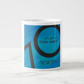 青70十年の誕生日 ジャンボコーヒーマグカップ