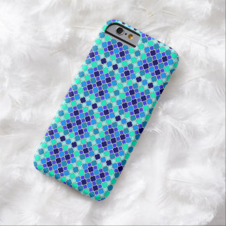 青、ティール(緑がかった色)及び水のクローバーのミニチュア陰 BARELY THERE iPhone 6 ケース
