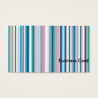 青、ピンク、灰色のストライプ 名刺
