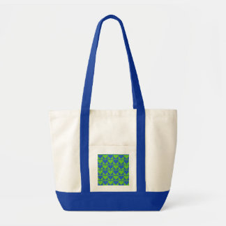 青/ライムのハートパターンカスタムのバッグ トートバッグ