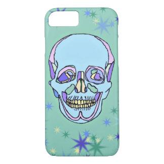 青、紫色、緑のパステル調のスカルのiPhone 7の箱 iPhone 8/7ケース